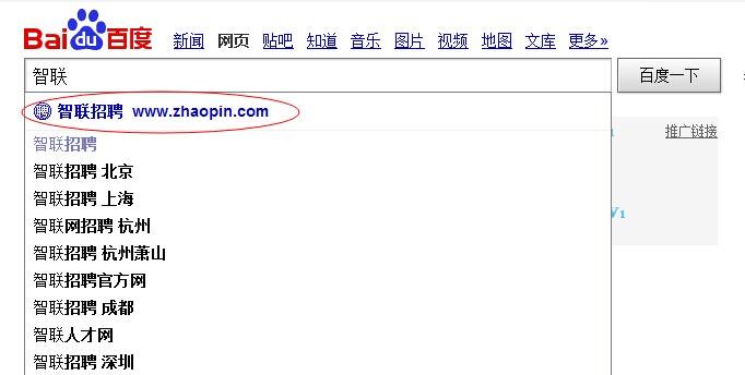 百度搜索的时候,发现有些网站能自带网址,这个是如何实现的?