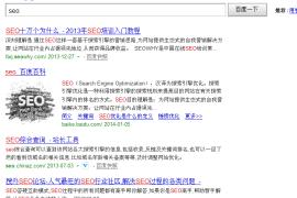 百度搜索seo 搜外教程第一