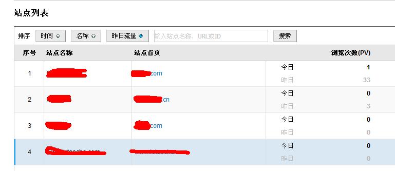 关于CNZZ的站点列表里面网站删除的问题!